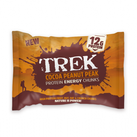 Cocoa Peanut Peak Trek Protein Energy Chunks - Gluten & Wheat Free 60g
